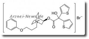 Chemische Strukturformel von Aclidiniumbromid