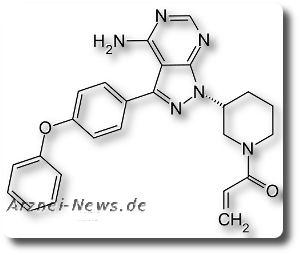 Chemische Strukturformel von Ibrutinib