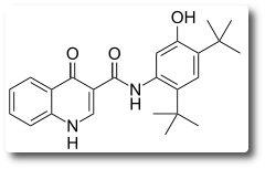 Chemische Strukturformel von Ivacaftor