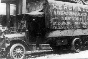 Merck-&-Co.-LKW um 1900