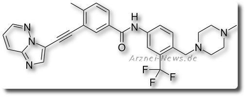 Chemische Strukturformel von Ponatinib