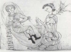 Zeichnung aus dem 13. Jahrhundert aus dem Pseudo-Apuleius Herbarium