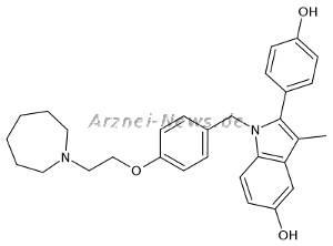 Chemische Strukturformel von Bazedoxifen