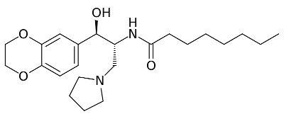 Chemische Strukturformel von Eliglustat