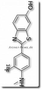 Chemische Strukturformel von Flutemetamol