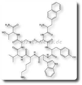 Chemische Strukturformel Lanreotid