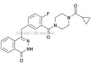 Olaparib: Chemische Strukturformel